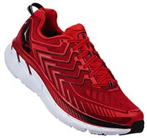 HOKA ONE ONE CLIFTON 4(Haute Red,High Risk Red)