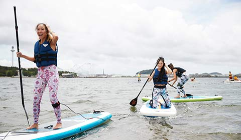 「#ROXYFITNESS RUN SUP YOGA 2018」福岡