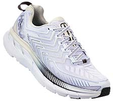 HOKA ONE ONE CLIFTON 4(White,Blackened Pearl)