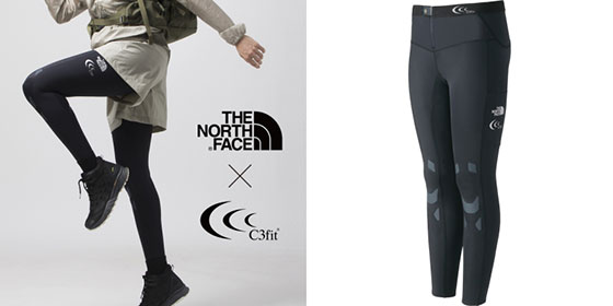 「THE NORTH FACEとC3fit」ダブルネームタイツ